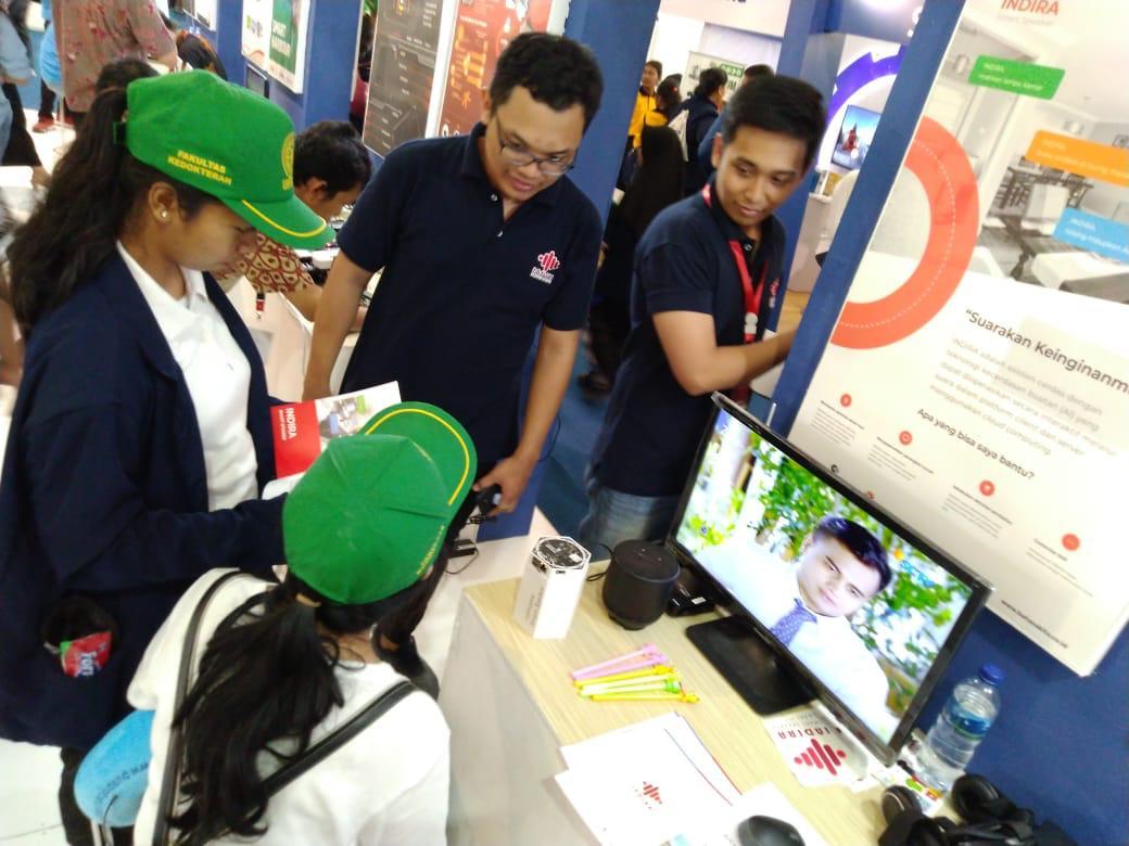 PT. Bahasa Kita Perkenalkan Smart Speaker Diacara Ritech Expo 2019 di Bali